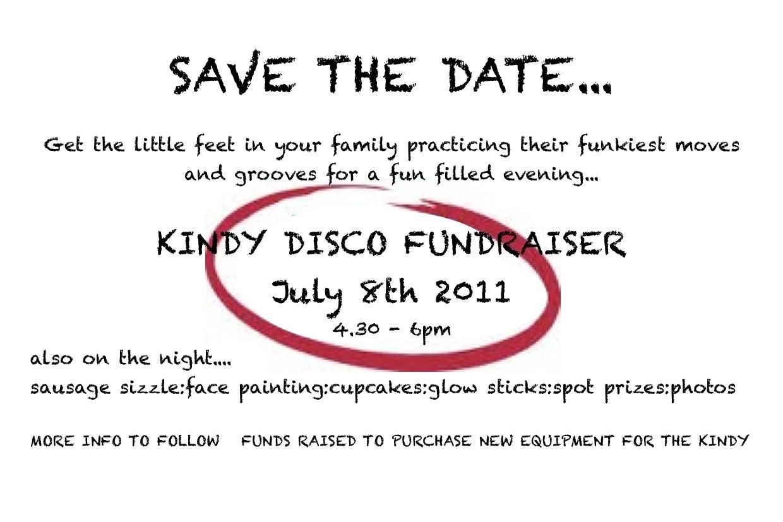 kindy disco save the date grace kindergarten